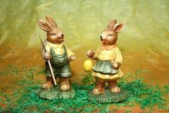 兔宝宝夫妇 库存照片