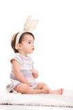 兔宝宝女孩一点 免版税库存图片
