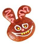 兔宝宝姜饼 库存照片