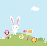 兔宝宝小山例证 免版税图库摄影