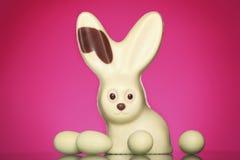 兔宝宝巧克力复活节 库存图片