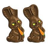 兔宝宝巧克力复活节甜传统 库存图片