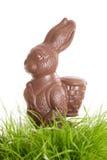 兔宝宝巧克力复活节 免版税库存照片