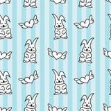 兔宝宝心脏无缝的样式 免版税库存照片