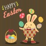 兔宝宝愉快的复活节 免版税库存照片