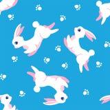 兔宝宝无缝的样式 免版税库存图片