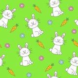 兔宝宝无缝的样式 图库摄影