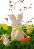 兔宝宝曲奇饼复活节 库存照片