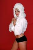 兔宝宝毛茸的雪 免版税库存图片