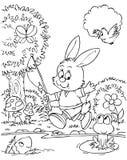 兔宝宝渔夫 库存照片