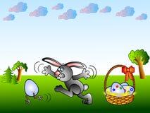 兔宝宝滑稽的复活节 免版税库存图片