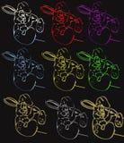 兔宝宝滑稽的绘画 库存图片