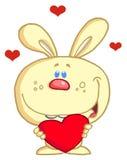 兔宝宝爱恋的黄色 免版税库存图片