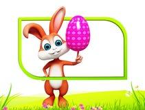兔宝宝用着色鸡蛋 库存图片