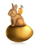 兔宝宝看板卡复活节问候蜂蜜 库存图片