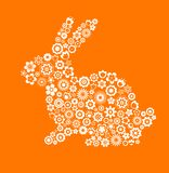 兔宝宝看板卡复活节问候 免版税库存照片