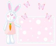 兔宝宝看板卡 图库摄影
