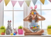 兔宝宝耳朵女孩佩带 库存图片