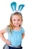 兔宝宝耳朵女孩 库存图片
