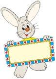 兔宝宝装饰复活节框架藏品 库存图片