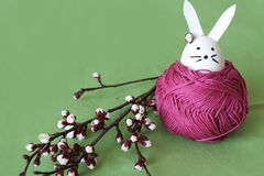 兔宝宝装饰复活节 库存图片