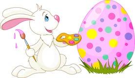 兔宝宝逗人喜爱的复活节彩蛋 免版税库存照片