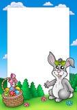 兔宝宝逗人喜爱的复活节框架