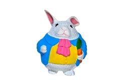 兔宝宝逗人喜爱的复活节油脂 免版税图库摄影