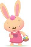 兔宝宝逗人喜爱的复活节粉红色 免版税库存图片