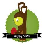 兔宝宝逗人喜爱的复活节 库存照片