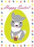 兔宝宝逗人喜爱的复活节 库存图片