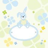 兔宝宝逗人喜爱的消息发送 免版税库存照片