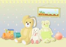 兔宝宝长毛绒玩具 库存照片