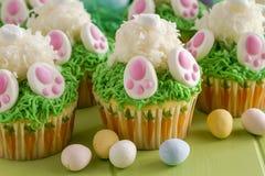 兔宝宝靶垛柠檬杯形蛋糕复活节款待 库存照片