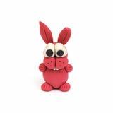 兔宝宝黏土塑造 免版税库存图片