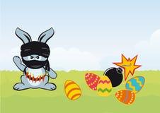 兔宝宝滑稽的复活节 库存照片