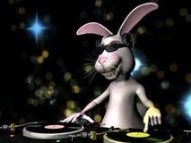 兔宝宝dj复活节 免版税库存图片