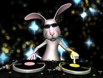兔宝宝dj复活节 库存照片