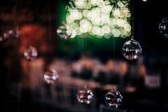 党、圣诞节、假日和婚礼的豪华表设置 免版税图库摄影