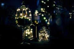 党、圣诞节、假日和婚礼的豪华表设置 免版税库存照片