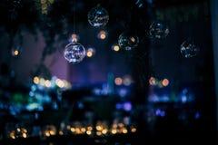 党、圣诞节、假日和婚礼的豪华表设置 图库摄影
