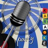 党卡片卡拉OK演唱 免版税库存照片