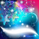 党卡片和圣诞节的星背景 图库摄影