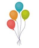 党和节日概念气球  免版税库存图片