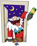 党圣诞节动画片,门 免版税库存照片