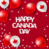 党气球为加拿大的国庆节 免版税库存图片