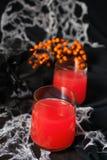 党的红色halloweens鸡尾酒 免版税库存图片