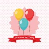 党设计 庆祝象 Colorfull例证,传染媒介 库存照片