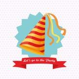 党设计 庆祝象 Colorfull例证,传染媒介 免版税库存照片