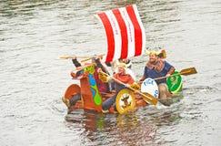 入侵没有种族木筏北欧海盗 免版税图库摄影